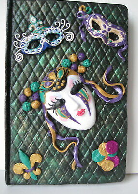 Journal/ Diary - Mardi Gras Keepsake Artisan designed journal/diary