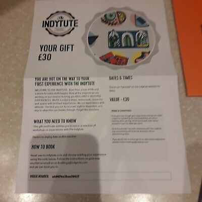 """£30 Gift voucher for """"The Indytute"""" Experiences"""