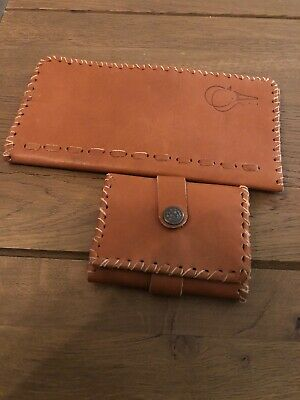 Handmade mens leather wallet And Key Holder With initial R. Kh