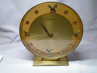 A Large Vintage Jaeger Lecoultre Desk Clock In Good Working Order
