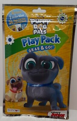 Disney Puppy Dog Pals Play Pack Grab /& Go Coloring Book Crayons Stickers Travel