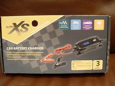 Auto XS Automatic Car Battery Charger 12V  6V Smart Conditioner Trickle Charger