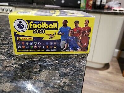 PANINI Premier League Sealed FULL BOX 100 packets of Football 2020 Stickers