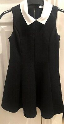 GIRLS BLACK & WHITE DRESS AGE 5-6 YEARS MARKS AND SPENCER - Classy & Chic LBD!