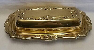 """Gold-Plated Bread & Butter Dish Glass Insert 8"""" X 4.5"""" Original Tag 1996"""