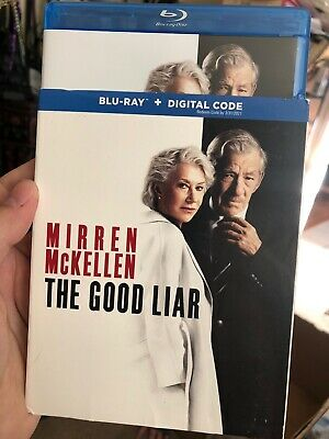 The Good Liar (Blu-ray 2020)  w/ Slipcover. No Digital.  Free Shipping