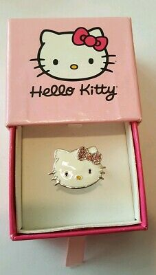 Hello Kitty Ring  STERLING SILVER pink TOURMALINE ** NEW ** RING