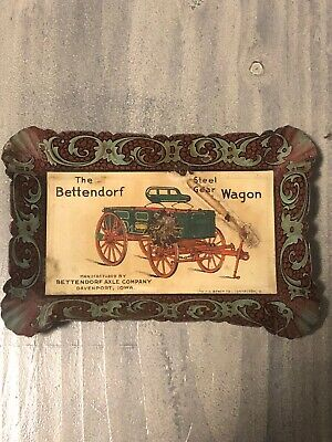 Vintage Early Bettendorf Axle Company Wagon Tip Tray Davenport Iowa Gas Oil Farm