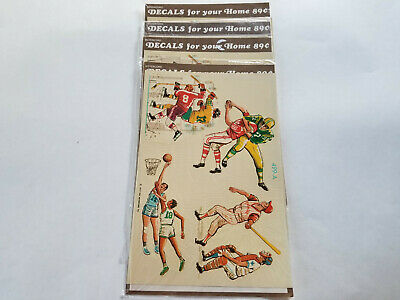 Vintage Meyercord Sports Decals 4 SEALED Packages 499-A