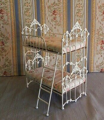 Dollhouse Miniature Bunk Bed Wrought Iron Look 1:12 Scale RETIRING DESIGN!
