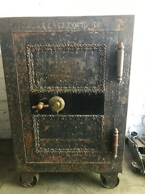 Antique Floor safe late 1800's early 1900's works with combination