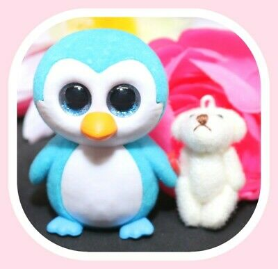 ICE CUBE the Blue Penguin 2 inch Mini Boo Figures Series 2 TY Beanie Boos