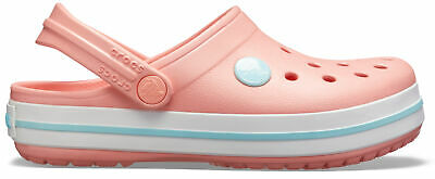 NEW Genuine Crocs Girls Crocband Clog K Melon/Ice Blue