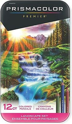 BRAND NEW SEALED Prismacolor Premier Colored Pencils Landscape Set 12 Count