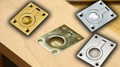Quality Solid Flush Fit Ring Pull Trap Door Furniture Cabinet Cupboard Handle