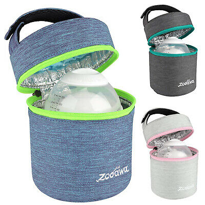Zooawa Breastmilk Cooler Bag - Insulated Baby Bottle Storage Travel Carrier Tote