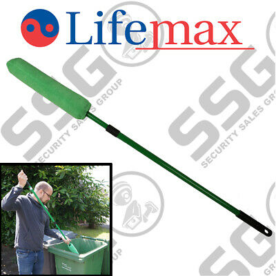 Lifemax Wheelie Bin Loofah - Bin Sweep Cleaning Brush Outdoor Long Handle