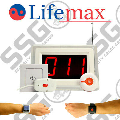 Lifemax Wireless Nurse Call Starter Kit System Panic Button Alert System Easy