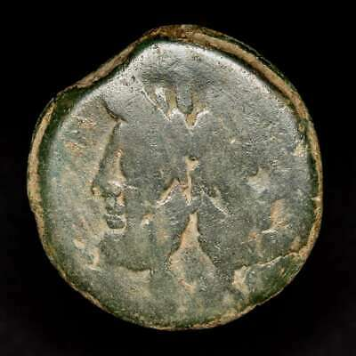 *Lucernae*  Anonymous Janus As  Prow of galley. ROMA below Rome 169-158 B.C.