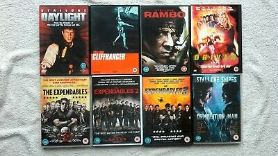 Expendables Trilogy DAYLIGHT RAMBO ESCAPE PLAN 3 Sylvester Stallone 9 DVD BUNDLE