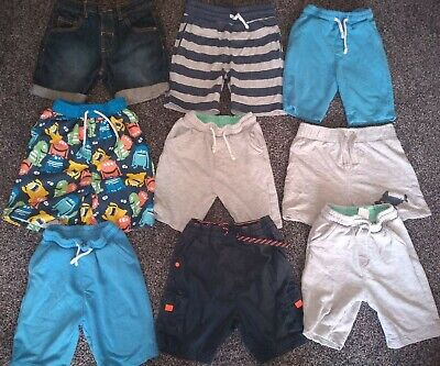 Boys Bundle Of 8 Pairs Of Shorts & 1 Pair Of Trunks Age 3-4 Years