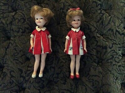 "Vintage 1960s Penny Brite Dolls (2) Deluxe Reading Corp 8"" Original Dress"