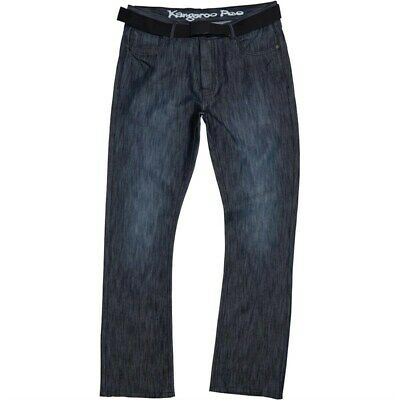 kangaroo poo mens straight fit denim jeans black