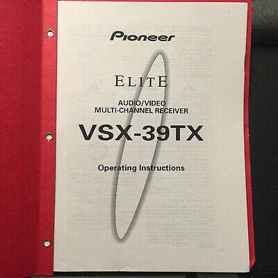 *Copy* Pioneer Owner Manual for the VSX-39TX  A/V Receiver