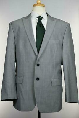 Calvin Klein Men's Gray Wool Natural Stretch Slim Fit Suit Jacket 42 R NEW