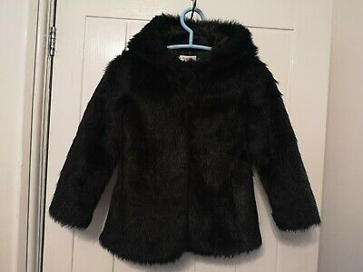 Bluezoo Black Girls faux Fur Jacket Age 6/7