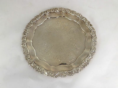 Waiter Salver Tray Solid Sterling Silver Classic Georgian Revival Richards 1855