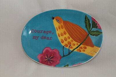 """CREATIVE CO-OP OVAL PLATTER ROOSTER 13 1//4/""""  0609I"""