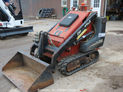 2007 Ditch Witch SK350 Walk Behind Mini Skid Steer Loader Track Aux Hydraulic