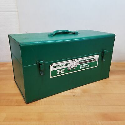 Greenlee 590 Portable Fish Tape Blower w/ Misc. Attachments, Line, and Pistons
