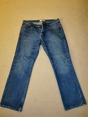Next MensJeans Blue Loose 36s Button Fly Excellent Condition Worn Once