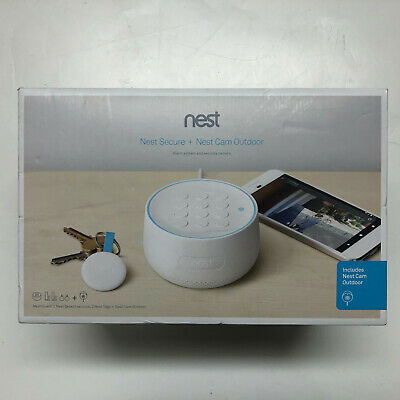 Google Nest Secure Alarm System with Nest Cam Outdoor White B01234-US