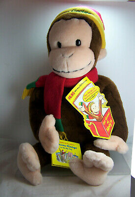 "Curious George Collectable Plush Large  Macys Stuffed Toy 24"" w/Tags & Book 2001"