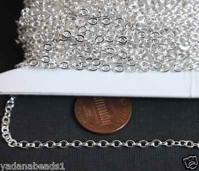 32ft of Silver Plated Flat Cable Chain 2mm