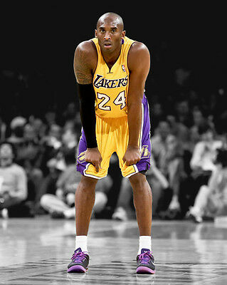 LA Los Angeles Lakers KOBE BRYANT Glossy 8x10 Photo Spotlight Basketball Print