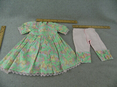 """15"""" hand made Easter Bunny Print Doll Dress fits 20"""" to 23"""" toddler Doll REDUCED"""