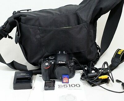Nikon D D5100 16.2MP Digital SLR Camera Black Body ONLY 522 SHUTTER COUNT