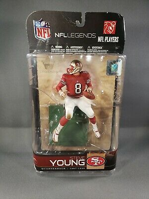 2009 Mcfarlane Nfl Legends Steve Young San Francisco 49Ers Figure Nip