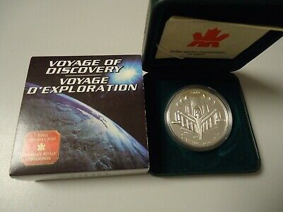 CANADA KANADA 2000 - 1 Dollar in Silber, PP - FLUGZEUG Voyage of Discovery