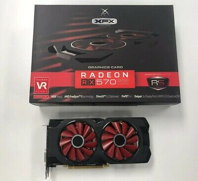 ⚡️🔥🔥⚡️ MINT XFX AMD Radeon RX 570 8GB GDDR5 Memory W/box