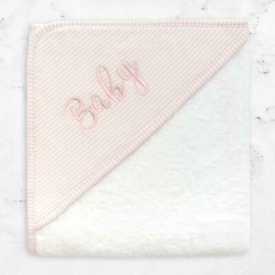Living Textiles Baby Hooded Towel Pink