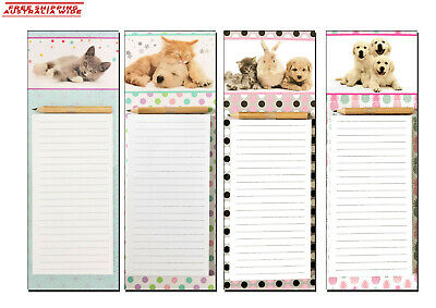 Cute Fridge Magnetic Memo Pad Shopping Board Things To Do List  with pencil