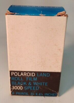 Vintage Black & White Polaroid 3000 Speed Land Picture Roll Type 47 Film 8 NOS