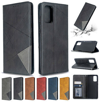 For Samsung Galaxy S20 Plus S20 Ultra Case Retro Leather Wallet Stand Flip Cover