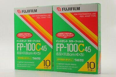 【NEW】 FujiFilm FP-100C45 x 2 Instant Color film Expired 12/2007 From JAPAN #346