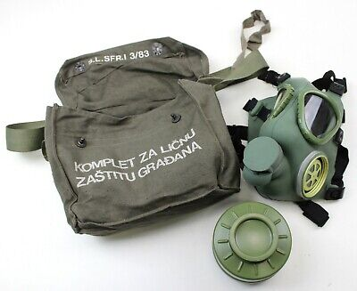 Serbian Army Gas Mask + Unused Filter & Bag (Auc)